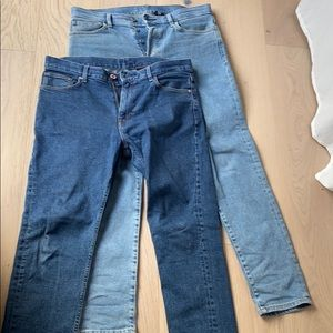 Men's H&M 33 slim jeans bundle